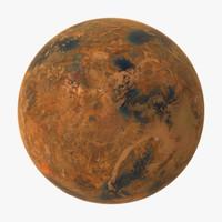 3d model of alien planet 01