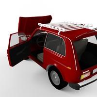 russian style car 4x4 3d model