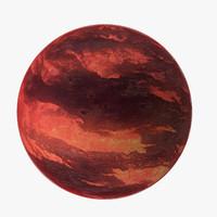 3d model alien planet 03