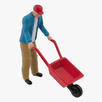 3d model of man work 01