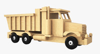 wooden toy truck wood 3d 3ds