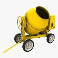 3d realistic cement mixer model