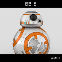 bb-8 droid star 3d 3ds