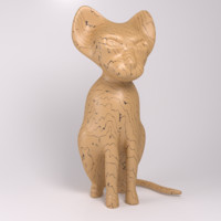cat figure blender 3ds free