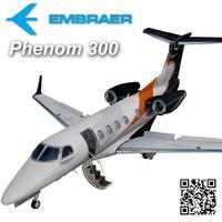 embraer phenom 300 3d max