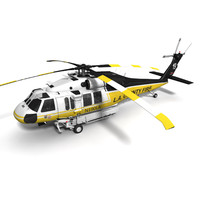 3d model s-70 firehawk s-70a blackhawk helicopter