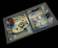 3d kindergarten interior model