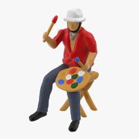 3d miniture artist 01