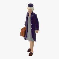 3d model miniture traveller 03