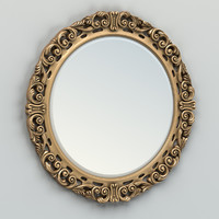 3d carved mirror frame