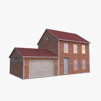 realistic garage - 3d model