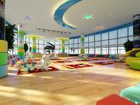 kindergarten interior 3d x