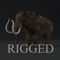 3d max realistic rigged mammoth