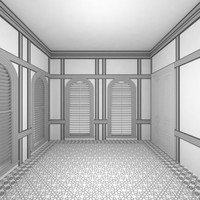 3d scene palace room