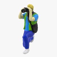 3d model miniture artist 03