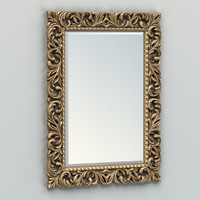 carved rectangle mirror frame max