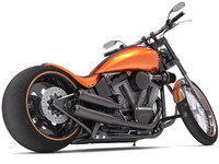 3d model harley-davidson night train