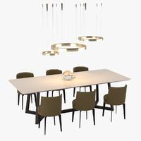 3d flexform dining set chair