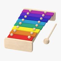 3d kids xylophone model
