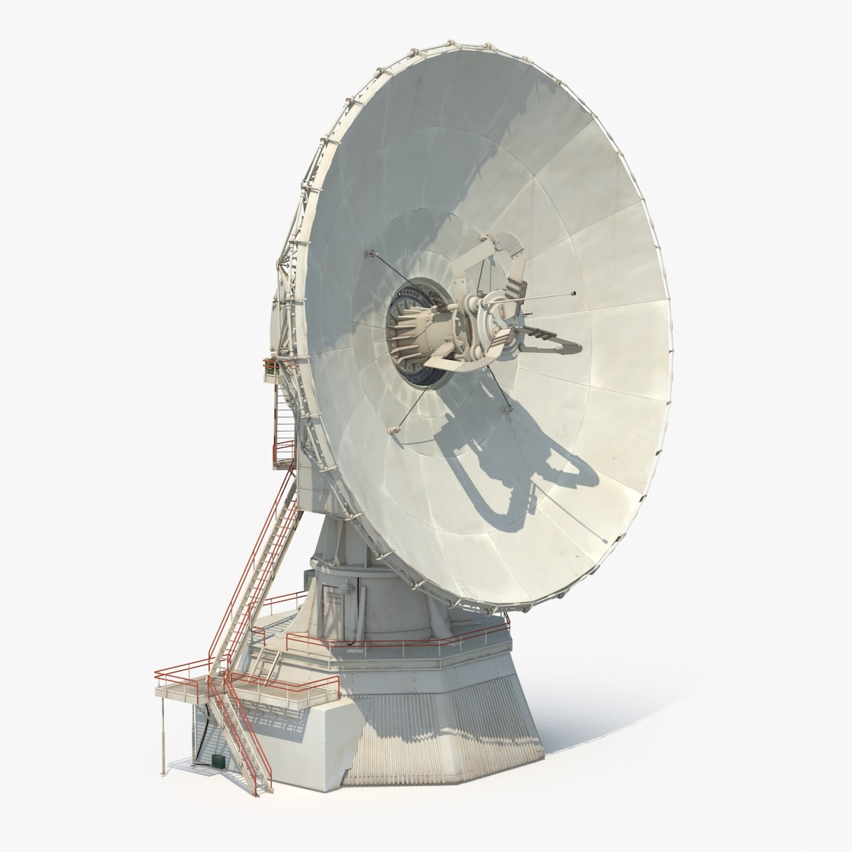 Satellite Panels Texture : D model large satellite dish