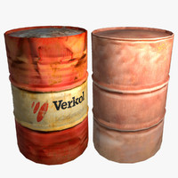 3d metal barrel