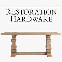 max salvaged trestle wood tables