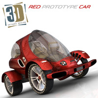 3d model car city futuristic