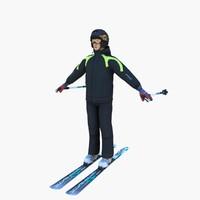 3d helmet ski model