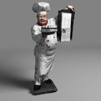 3d chef restaurant