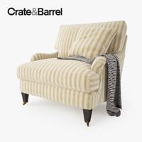 3d crate barrel essex chair