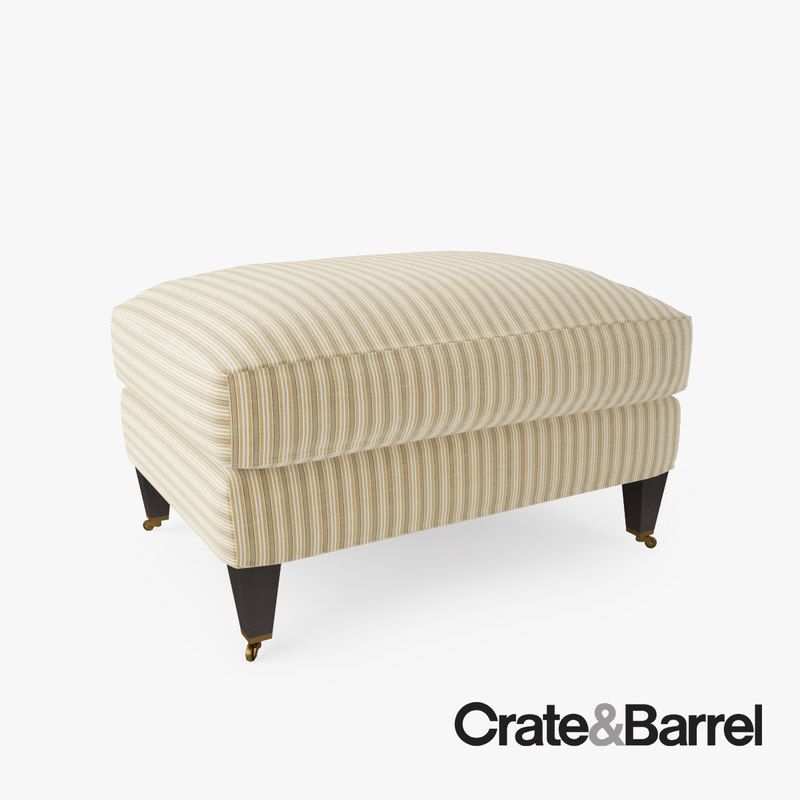 Crate barrel essex ottoman 3d max for Crate and barrel pouf