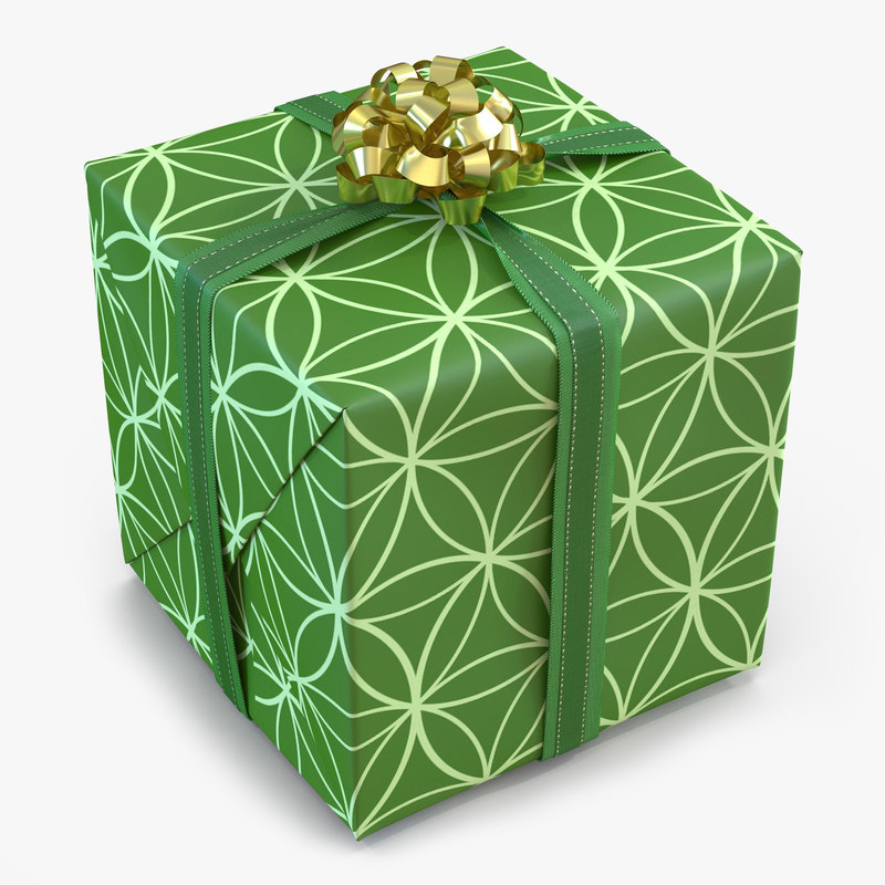 Giftbox Green 3d model 00.jpg