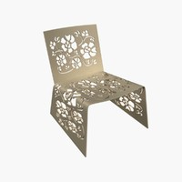 flower designed chair 3d model