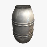 plastic barrel 3d model