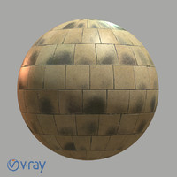 Cobblestone pavement material (vray version)