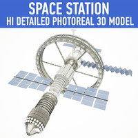space station 3d obj