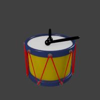 3d cartoon drum toy