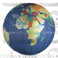 Political 3D Globe, year 2016