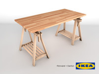 3d ikea table finnvard gerton model