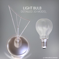 light bulb lamp 3d model