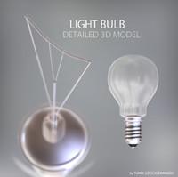 light bulb lamp 3d model