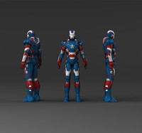 3d model of iron man captain america