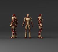 3d iron man v3 model