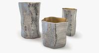 Silver vases by Argenesi Vesta series