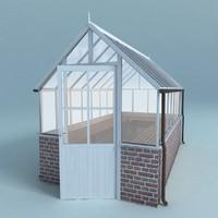greenhouse house 3d model