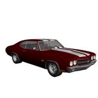 chevrolet chevelle ss 3d max