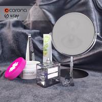 set cosmetics 3d model