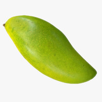 green mango polys 3d model