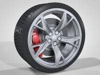 3d wheel car sport model
