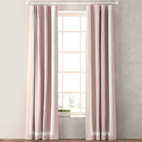 curtains appliqued frame cotton 3d max
